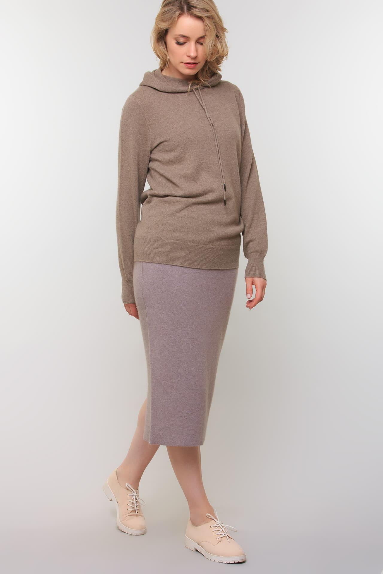 Кашемировая юбка-карандаш