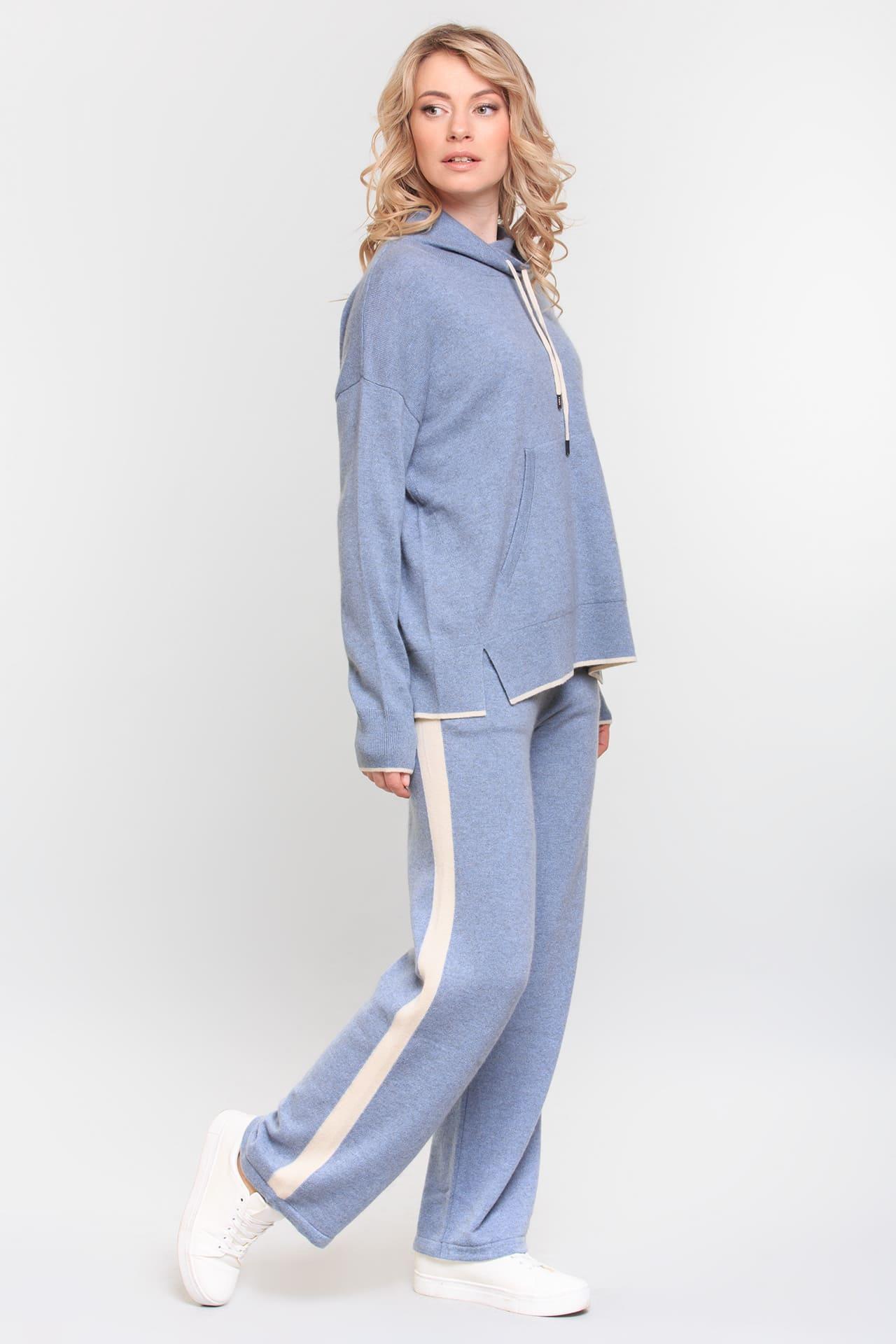Кашемировые брюки с лампасами