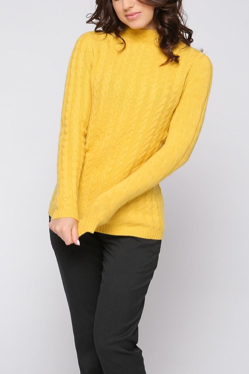 Кашемировый свитер с косами